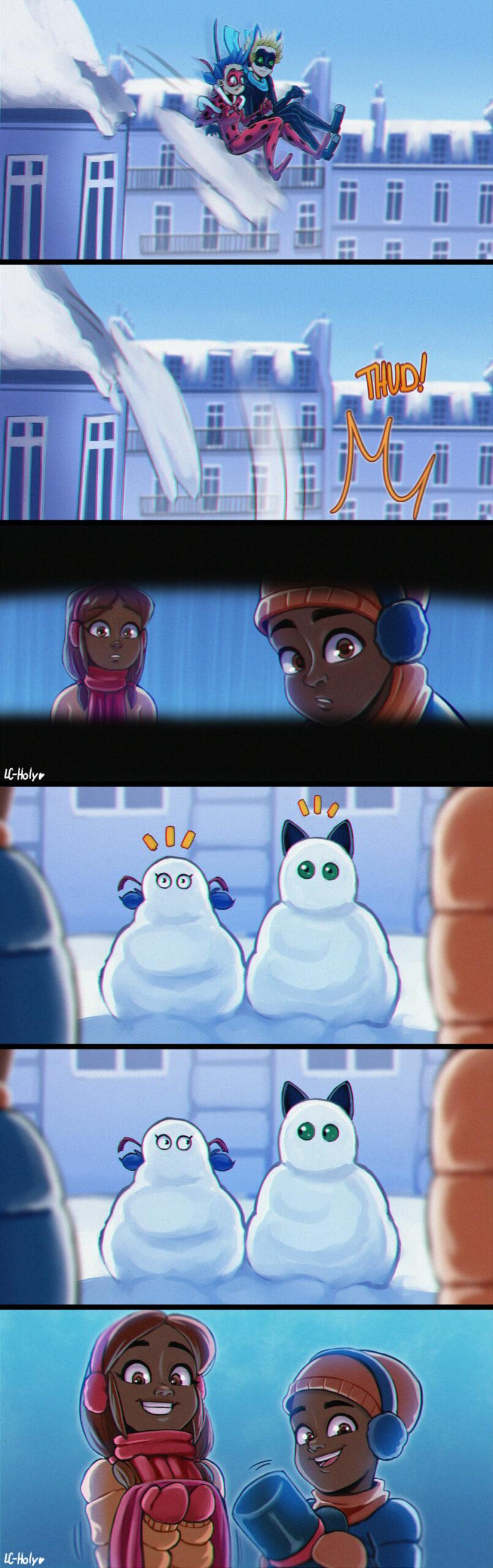 Комикс Снежный день 1-7